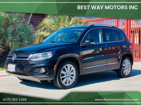 2013 Volkswagen Tiguan for sale at BEST WAY MOTORS INC in San Diego CA