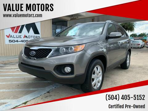 2013 Kia Sorento for sale at VALUE MOTORS in Kenner LA