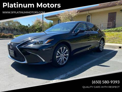 2019 Lexus ES 300h for sale at Platinum Motors in San Bruno CA