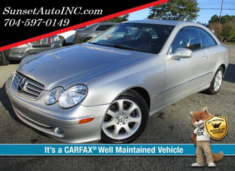 2004 Mercedes-Benz CLK for sale at Sunset Auto in Charlotte NC