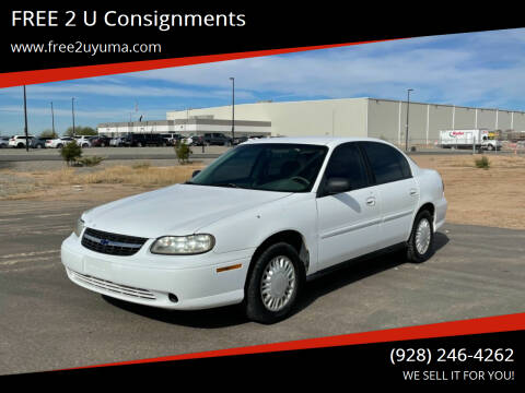 2002 Chevrolet Malibu for sale at FREE 2 U Consignments in Yuma AZ