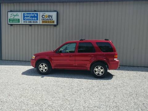 2005 Ford Escape for sale at Doyle's Auto Sales and Service in North Vernon IN