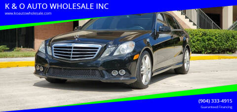 2010 Mercedes-Benz E-Class for sale at K & O AUTO WHOLESALE INC in Jacksonville FL