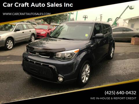 2016 Kia Soul for sale at Car Craft Auto Sales Inc in Lynnwood WA