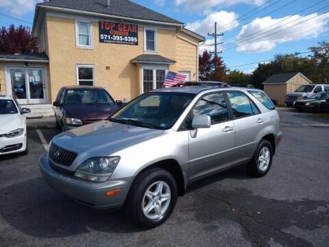 2000 Lexus RX 300 for sale at Top Gear Motors in Winchester VA