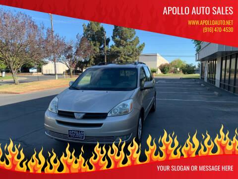 2005 Toyota Sienna for sale at APOLLO AUTO SALES in Sacramento CA