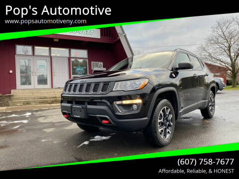2020 Jeep Compass for sale at Pop's Automotive in Homer NY