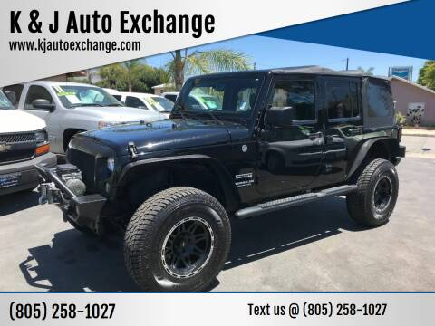 2014 Jeep Wrangler Unlimited for sale at K & J Auto Exchange in Santa Paula CA