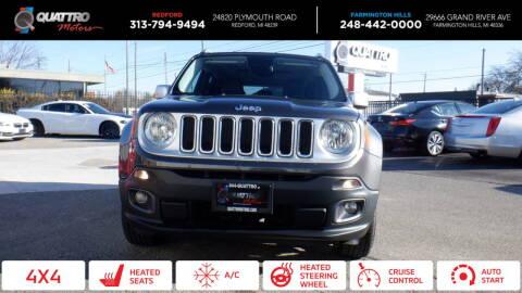 2016 Jeep Renegade for sale at Quattro Motors 2 - 1 in Redford MI