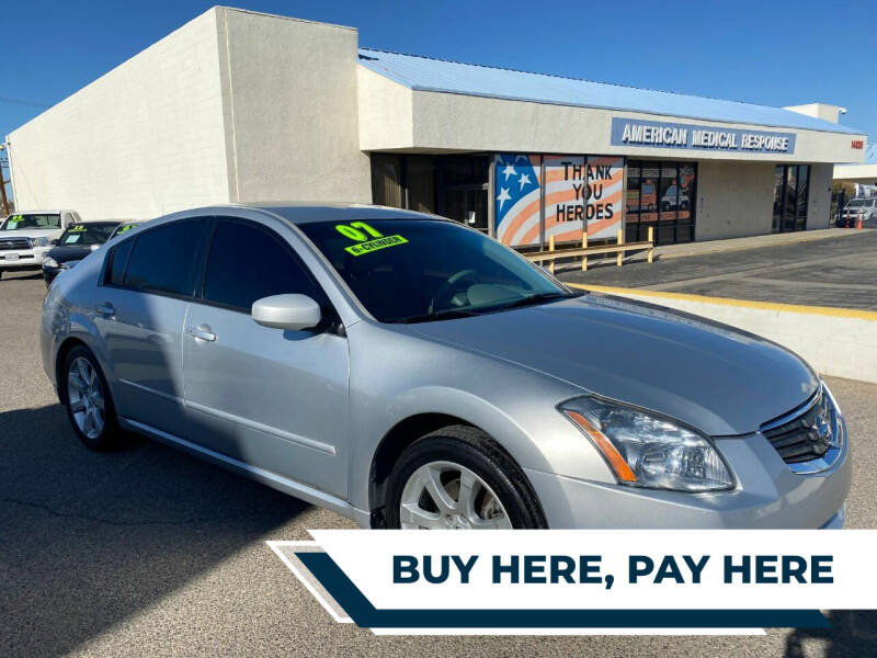 2007 Nissan Maxima for sale at Miracle Motor Cars Inc. in Victorville CA
