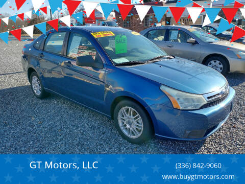 2008 Ford Focus for sale at GT Motors, LLC in Elkin NC