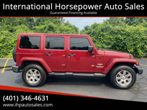 2012 Jeep Wrangler Unlimited for sale at International Horsepower Auto Sales in Warwick RI