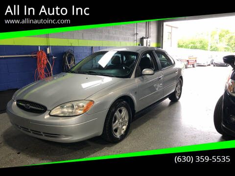2001 Ford Taurus for sale at All In Auto Inc in Addison IL
