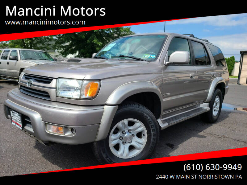 2002 Toyota 4Runner for sale at Mancini Motors in Norristown PA