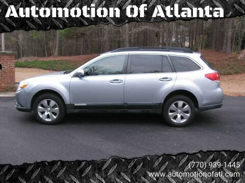 2012 Subaru Outback for sale at Automotion Of Atlanta in Conyers GA