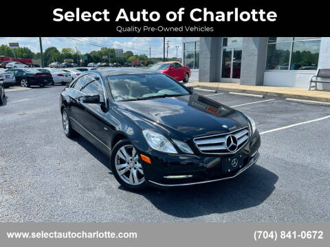 2012 Mercedes-Benz E-Class for sale at Select Auto of Charlotte in Matthews NC