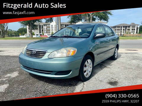 2007 Toyota Corolla for sale at Fitzgerald Auto Sales in Jacksonville FL