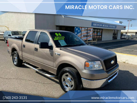 2006 Ford F-150 for sale at Miracle Motor Cars Inc. in Victorville CA