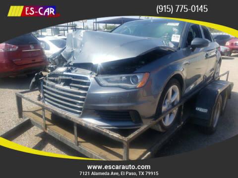 2016 Audi A3 for sale at Escar Auto in El Paso TX