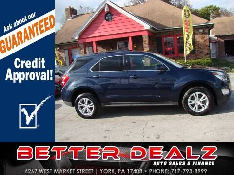 2016 Chevrolet Equinox for sale at Better Dealz Auto Sales & Finance in York PA