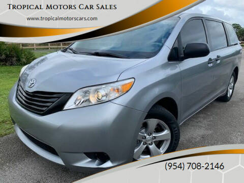 2012 Toyota Sienna for sale at Tropical Motors Car Sales in Deerfield Beach FL