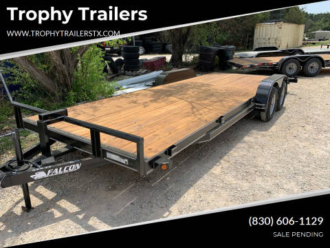 2021 FALCON  22' CAR HAULER for sale at Trophy Trailers in New Braunfels TX