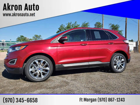 2016 Ford Edge for sale at Akron Auto - Fort Morgan in Fort Morgan CO