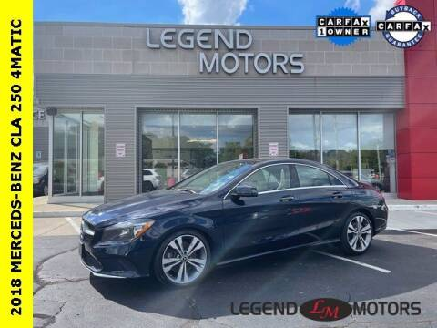 2018 Mercedes-Benz CLA for sale at Legend Motors of Waterford in Waterford MI