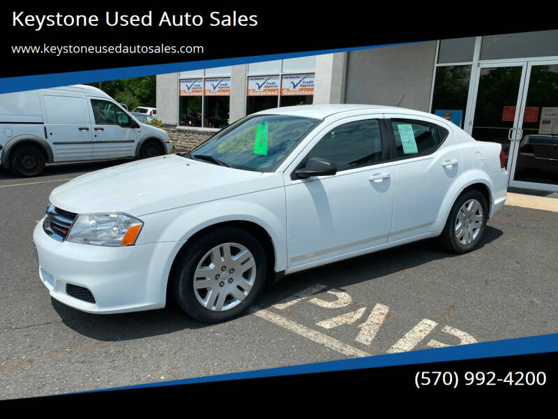 2014 Dodge Avenger for sale at Keystone Used Auto Sales in Brodheadsville PA