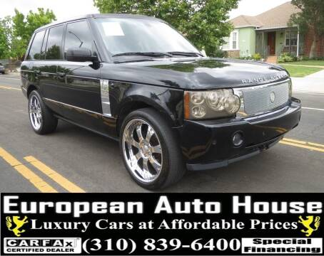 2008 Land Rover Range Rover for sale at European Auto House in Los Angeles CA