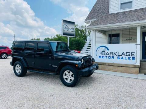 2011 Jeep Wrangler Unlimited for sale at BARKLAGE MOTOR SALES in Eldon MO