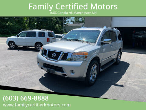 2010 Nissan Armada for sale at Family Certified Motors in Manchester NH