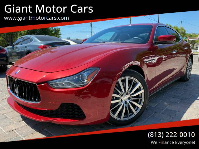 2015 Maserati Ghibli for sale at Giant Motor Cars in Tampa FL