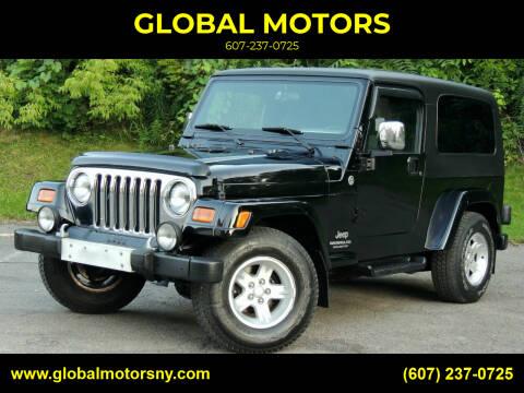 2006 Jeep Wrangler for sale at GLOBAL MOTORS in Binghamton NY