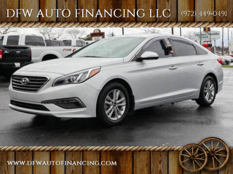 2015 Hyundai Sonata for sale at DFW AUTO FINANCING LLC in Dallas TX
