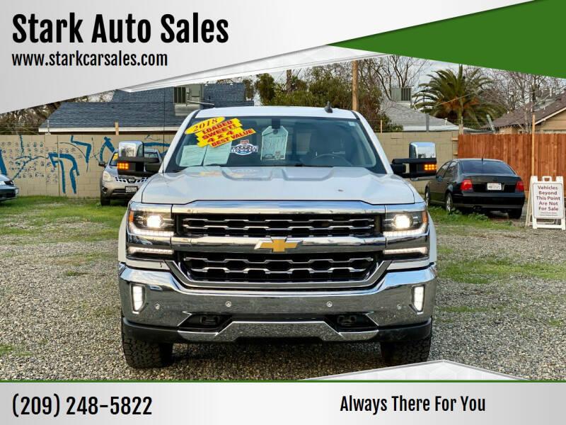 2018 Chevrolet Silverado 1500 for sale at Stark Auto Sales in Modesto CA