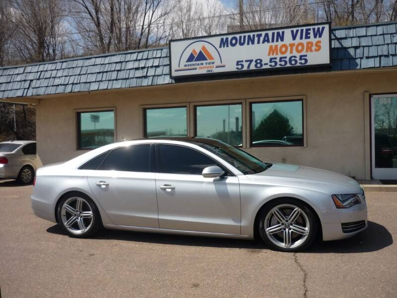 2013 Audi A8 for sale at Mountain View Motors Inc in Colorado Springs CO
