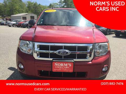 2012 Ford Escape for sale at NORM'S USED CARS INC in Wiscasset ME