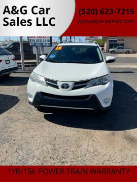 2015 Toyota RAV4 for sale at A&G Car Sales  LLC in Tucson AZ