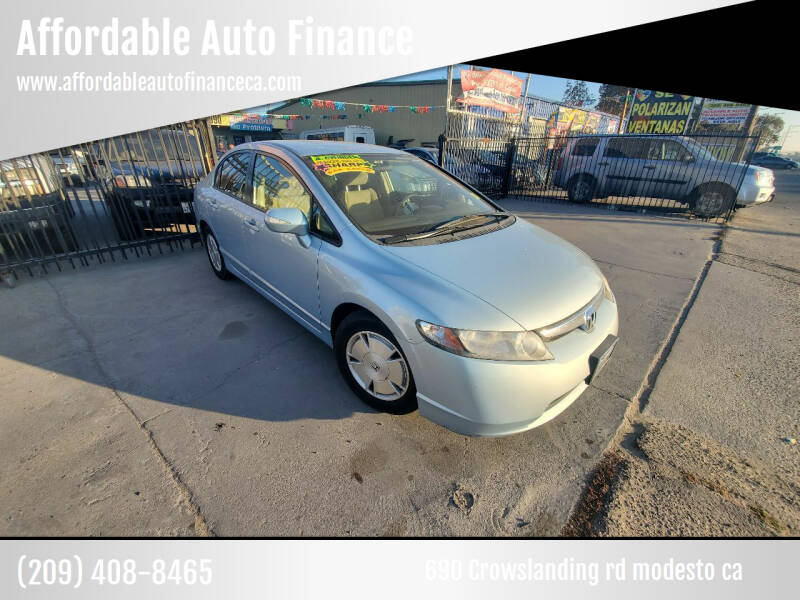 2008 Honda Civic for sale at Affordable Auto Finance in Modesto CA