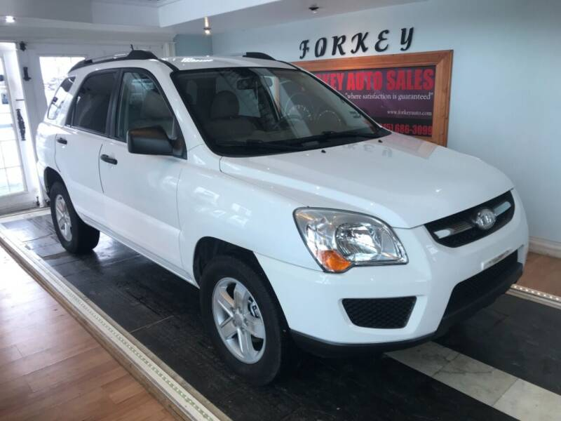 2010 Kia Sportage for sale at Forkey Auto & Trailer Sales in La Fargeville NY