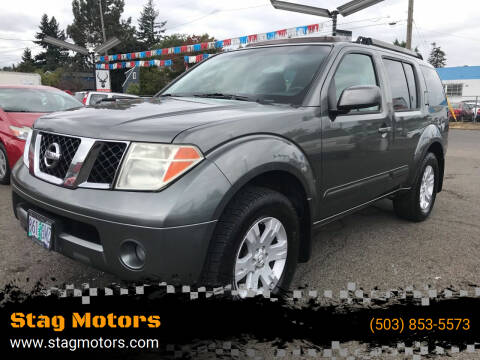 2005 Nissan Pathfinder for sale at Stag Motors in Portland OR