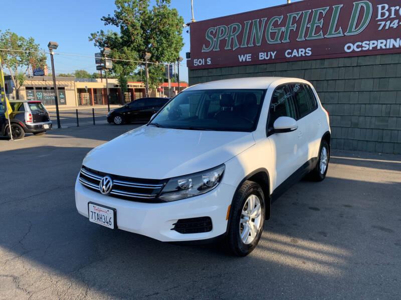 2013 Volkswagen Tiguan for sale at SPRINGFIELD BROTHERS LLC in Fullerton CA