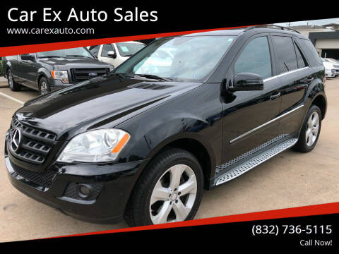 2011 Mercedes-Benz M-Class for sale at Car Ex Auto Sales in Houston TX