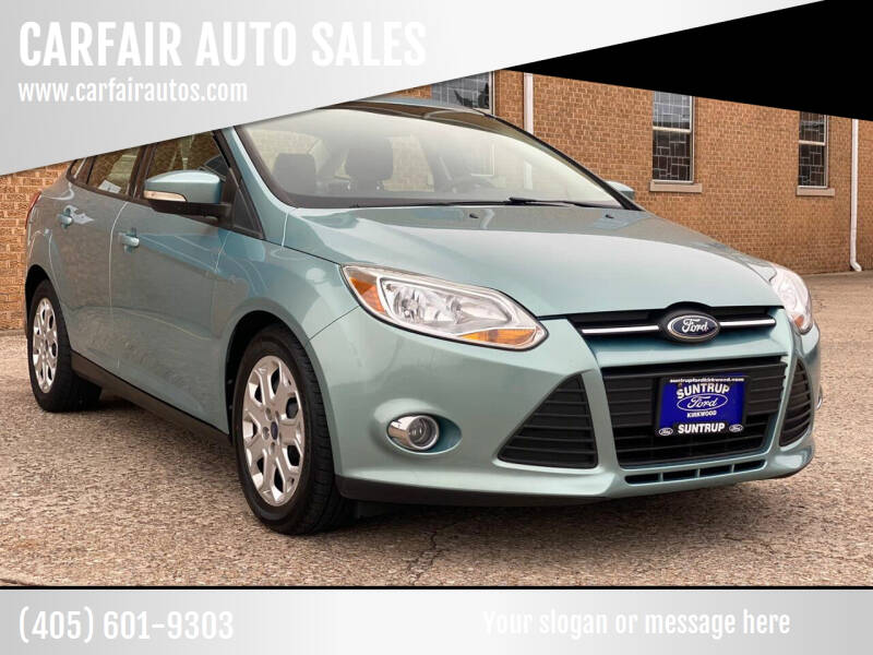 2012 Ford Focus for sale at CARFAIR AUTO SALES in Oklahoma City OK