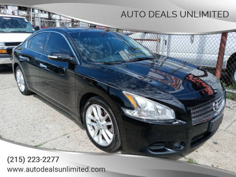 2011 Nissan Maxima for sale at AUTO DEALS UNLIMITED in Philadelphia PA