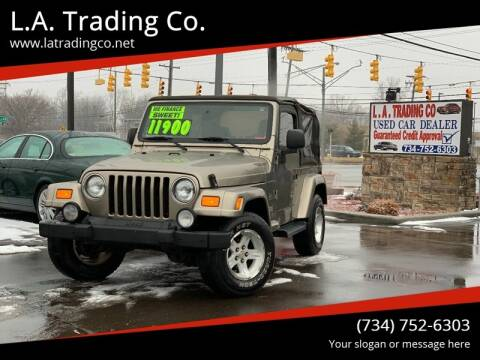 2004 Jeep Wrangler for sale at L.A. Trading Co. Woodhaven in Woodhaven MI