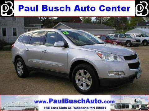 2012 Chevrolet Traverse for sale at Paul Busch Auto Center Inc in Wabasha MN
