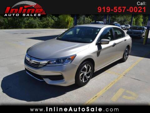 2017 Honda Accord for sale at Inline Auto Sales in Fuquay Varina NC