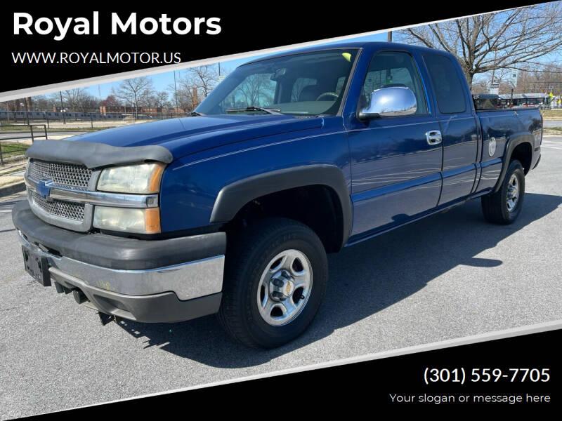 2004 Chevrolet Silverado 1500 for sale at Royal Motors in Hyattsville MD